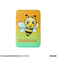 Customizable Bumblebee Bath Mat