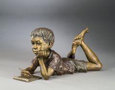 Imagine - A bronze sculpture by Mark Hopkins inches Garden Sculpture, Lion Sculpture, Bronze Sculpture, Statue, Painting, Children, Art, Sculptures, Young Children