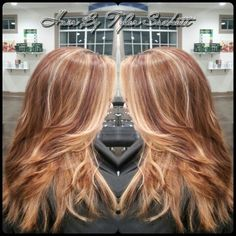 Layered Cut, redken chromatics color with high lights, a hair treatment & style