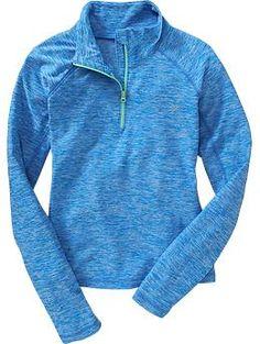Girls Old Navy Active Half-Zip Pullovers