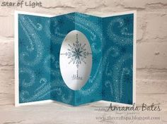 handmade Christmas card from The Craft Spa ... Star of Light Tunnel Fold Card Part ... large star and sentiment inside the tunnel fold ... snow flurries outside layer ... Stampin' Up!