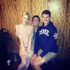 "Jaime King posted this ""awkward family photo"" with co-stars Scott Porter & Travis Van Winkle"
