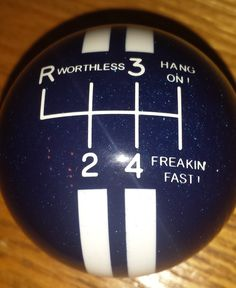 Mustang Rally Stripe 6RUR 6 Speed Worthless Hang On Shift Knob - HouseOspeed - Hot Rod Shift Knob
