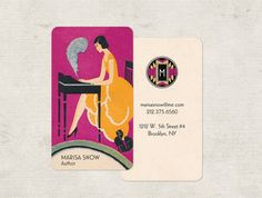 Art Deco Business Cards Calling Cards Business Card by GoGoSnap