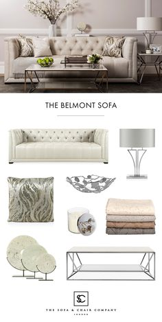 The luxury & elegant living room. Create an inspiring living room by combining modern, classic and art-deco luxury furniture. Get the look: Belmont luxury sofa | Yves luxury table lamp | Dune luxury cushion | Botanical Leaf luxury bowl | Divine Alpaca luxury throws | Aram luxury candle | Crema luxury ornaments | Ginza coffee table.