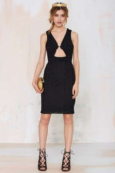 Nasty Gal Peep Frill Lace Dress - Going Out | LBD | Body-Con | Dresses | Dresses | Clothes | All | Lace Dresses | Dresses | Dresses