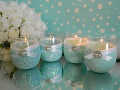 New Baby Shower Centerpieces Dollar Stores Candle Holders Ideas Bridal Shower Nails, Bridal Shower Favors Diy, Baby Shower Centerpieces, Wedding Party Favors, Wedding Ideas, Table Centerpieces, Wedding Pictures, Shower Gifts, Diy Shower