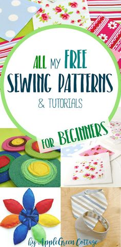 ​ALL ​the free sewing tutorials and patterns ​ever made by AppleGreen Cottage. Popular pins for free sewing projects and beginner PDF patterns, all in one place.