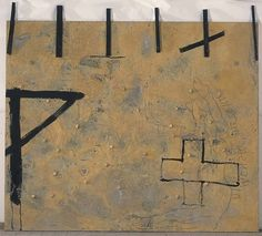 The theories and abstract paintings of Catalan artist Antoni Tàpies gave rise to the postwar Art Informel movement. Abstract Expressionism, Abstract Art, Abstract Paintings, Abstract Landscape, Art Espagnole, Modern Art, Contemporary Art, Picasso Cubism, Art Informel