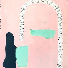 """Throw back to this pink treat abstract painting """"Hello"""" 〰 #ashleymaryart"""