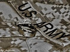Military Wedding Ring Shot. Awesome!