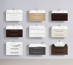 Endless options for your individual bathroom - whatever size and shape. Choose between 9 washbasin designs and 7 finishes from 40-275 cm wide.