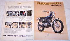Vintage 1973 Original Yamaha 125 AT3 Motorcycle Sales Brochure | eBay
