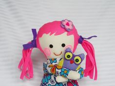 rag doll, cloth doll,  made of cotton. Safe toy for your child