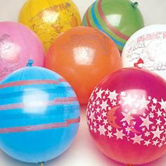 Punching Balloons...favors, prizes, pinata.