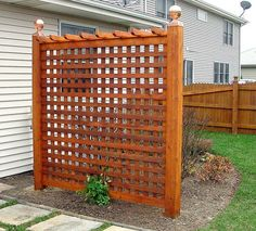 posts with trellis screen for shed - Google Search