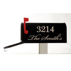 Mailbox Decal  Customized with your Name and Street by luxeloft