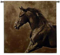 Westward Gallop Horse Tapestry Wall Hanging