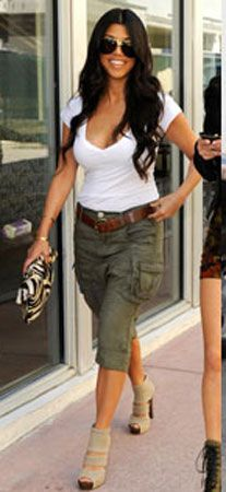 Not a big Kardashian fan, but I love Kortney's style.