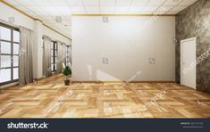 Empty Room Interior Wooden Floor On ภาพประกอบสต็อก 1681791736 Empty Room, Wooden Flooring, Room Interior, Furniture, Home Decor, Wood Flooring, Hardwood Floors, Parquetry, Interior Design