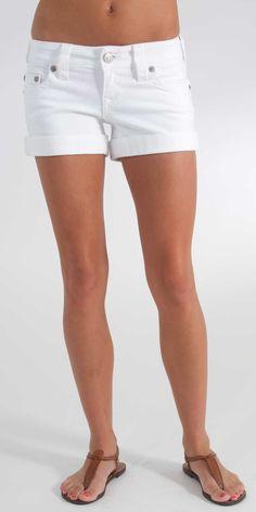 True Religion Allie Cuff Short in White Body Rinse- $150.00