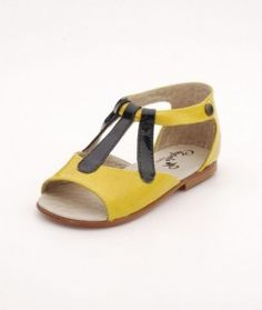 Odile children's boutique Chicago chupeta_cappucine_yellow_sandal_488