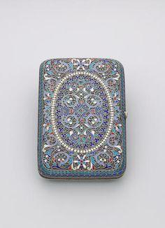 A cloisonne enamel purse Gustav Klingert,