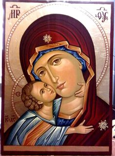 Theotokos - Elena Varga Religious Pictures, Religious Icons, Religious Art, Byzantine Icons, Byzantine Art, Blessed Mother Mary, Blessed Virgin Mary, Jesus E Maria, Religion