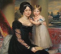 1824 Henry Bone--future Princess Victoria and her mother, the Duchess of Kent