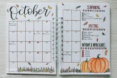 October monthly calendar spread and main goals Bullet Journal October monthly calendar spread and main goals Bullet Journal Bullet Journal Disney, Bullet Journal Page, Bullet Journal Monthly Spread, Bullet Journal Writing, Bullet Journal School, Bullet Journal Inspiration, Journal Ideas, Easy Things To Draw, Bujo Planner