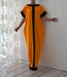 Oversized caftan dress with pockets Long African Dresses, African Print Dresses, African Print Fashion, African Fashion Dresses, Kaftan Style, Caftan Dress, African Attire, African Wear, Merian
