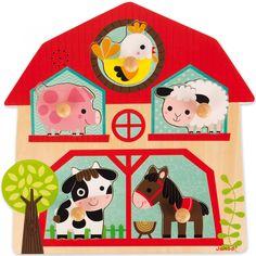 Puzzle musical Les copains de la ferme (5 pièces) : Janod