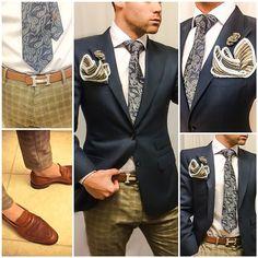 Look Details: Blazer: #bespoke Trousers: #custom Belt #hermes Shirt: #hugoboss Shoes: #allenedmonds Pocketsquare: #sebastiancruzcouture Lapel Flower Button: #Sebastiancruzcouture