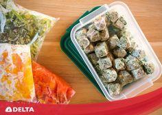 Kışa hazırlık ipuçları; donmuş sebzelerinizi çözülmesini beklemeden,  dondurucudan aldığınız gibi pişirme işlemini gerçekleştirebilirsiniz. #Delta #DeltaSogutma