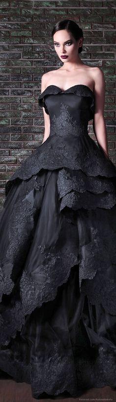 Amazing black dress by Rami Kadi | #FashionInPics
