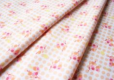 Fabric Finders #10422 Orange Flower and Dots