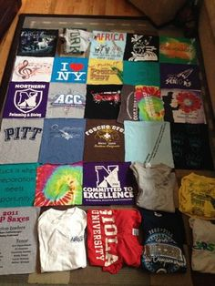 Tshirt quilt. I want to do this for mike!
