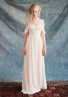20 Flirty Cold Shoulder Wedding Dresses | HappyWedd.com