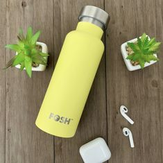 Stainless steel, reusable water bottles are the future! And who can argue when they come in stunning colours like this gorgeous sunshine yellow? Reusable Water Bottles, Stainless Steel Water Bottle, Go Green, Sunshine, Colours, Canning, Photo And Video, Future, Yellow