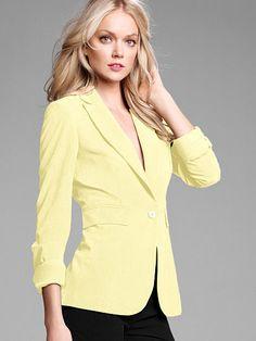 Long & Lean One-button Jacket in Seasonless Stretch