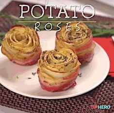 Très jolie recette de pommes de terre en forme de roses
