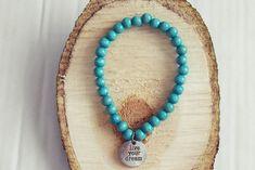 Turquoise Bead Bracelet | Charm Bracelet | Mens Beaded Bracelet | Wooden Bead Bracelet Handmade Bracelets, Bracelets For Men, Beaded Necklace, Beaded Bracelets, Bracelet Sizes, Turquoise Beads, Bracelet Designs, Wooden Beads, Anklet