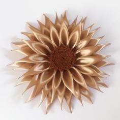 DIY Tutorial DIY fita Artesanato / DIY Kanzashi Flower Ribbon - Bead & Cord