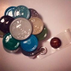 Kalming Khaki Flip Top Retractable ID Badge Reel on Etsy, $14.50