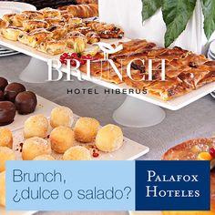 ¡Este fin de semana vuelve el #brunch al #HotelHiberus! ¿Ya lo has probado? ¿Eres de dulce o de salado? Da igual, nuestro buffet tiene de todo y para todos los gustos!! :D