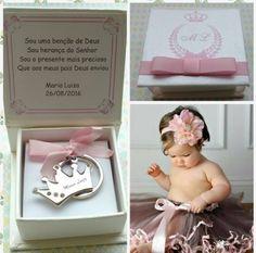 lembranças de maternidade chaveiro de coroa princesa