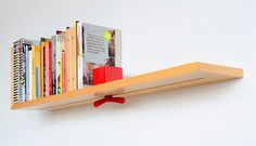 Even better if you had an adjustable divider extending from shelf above, but still pretty sweet.