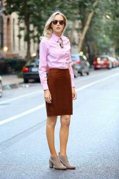 ankle boots with office outfit