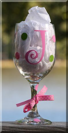 - Personalized Gifts at Great Prices - Personalized Wine Glass Monogram Wine Glasses, Diy Wine Glasses, Decorated Wine Glasses, Personalized Wine Glasses, Hand Painted Wine Glasses, Personalized Gifts, Painting On Wine Glasses, Wedding Wine Glasses, Personalised Wine