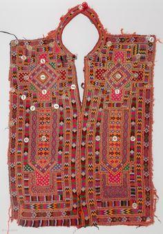 Baluchi Woman's Embroidered Dress Panel A woman's pashk kurta, dress panel from Baluchistan, Pakistan. Exquisite embroidery work, very fine geometric patterns, early 1900s.